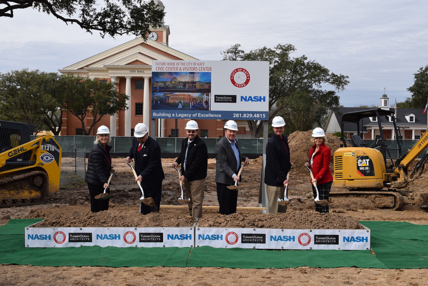 City of Katy holds groundbreaking for Katy Downtown Plaza Photo - Click Here to See